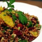 אורז אדום וחמוציות
